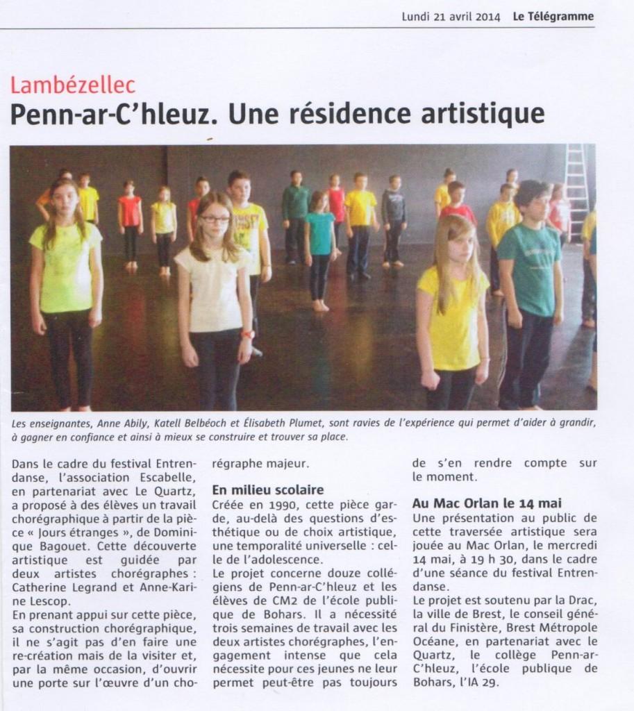 article Télégramme J.E.